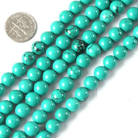 Synthetische Türkis Perle, verschiedene Größen vorhanden, verkauft per ca. 15 ZollInch Strang