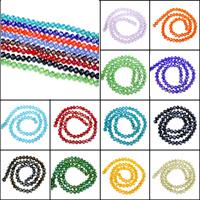Kristall-Perlen, Kristall, AB Farben plattiert, verschiedene Größen vorhanden & facettierte, mehrere Farben vorhanden, Bohrung:ca. 1mm, Länge:ca. 15 ZollInch, verkauft von Tasche