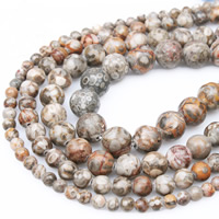 Maifan Stein Perle, rund, verschiedene Größen vorhanden, Bohrung:ca. 1mm, verkauft per ca. 15.5 ZollInch Strang