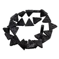 Natürliche Lava Perlen, 15x15x3.5mm, Bohrung:ca. 1.5mm, ca. 24PCs/Strang, verkauft per ca. 14.5 ZollInch Strang