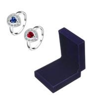 comeon® Finger-Ring, Thailand, Tropfen, verschiedene Größen vorhanden & für Frau & mit kubischem Zirkonia, 14x12mm, verkauft von PC