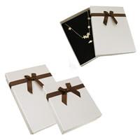 Karton Schmuckset Kasten, Papier, mit Schwamm & Satinband, Rechteck, verschiedene Größen vorhanden & mit Dekoration von Bandschleife, verkauft von Tasche