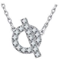 Messing Halskette, mit Verlängerungskettchen von 1.9inch, platiniert, Oval-Kette & Micro pave Zirkonia & für Frau, frei von Nickel, Blei & Kadmium, 10x16mm, verkauft per ca. 15.7 ZollInch Strang