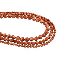Goldstein Perlen, Goldsand, verschiedene Größen vorhanden & facettierte, verkauft per ca. 15.5 ZollInch Strang