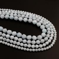 Aquamarin Perle, März Birthstone & verschiedene Größen vorhanden & facettierte, verkauft per ca. 15.5 ZollInch Strang