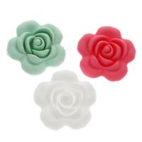 Polymer Ton Perlen , Blume, keine, 40x40x14mm, Bohrung:ca. 1.5mm, 10PCs/Tasche, verkauft von Tasche