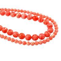 Natürliche Streifen Achat Perlen, rund, verschiedene Größen vorhanden & facettierte, Bohrung:ca. 1mm, verkauft per ca. 15.5 ZollInch Strang