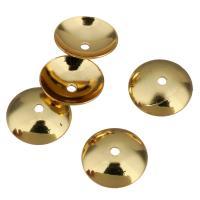 Messing Perlenkappe, vergoldet, 8x2mm, Bohrung:ca. 1mm, 200PCs/Menge, verkauft von Menge
