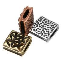 Messing Diacharme, plattiert, gehämmert, keine, 9x9x4.50mm, Bohrung:ca. 5x1.5mm, 20PCs/Menge, verkauft von Menge