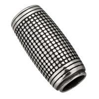 Edelstahl Magnetverschluss, Schwärzen, 31x13.50x13.50mm, Innendurchmesser:ca. 8, 8.5mm, 10PCs/Menge, verkauft von Menge