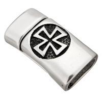 Edelstahl Magnetverschluss, Schwärzen, 29x16x9.50mm, Innendurchmesser:ca. 13x7mm, 10PCs/Menge, verkauft von Menge