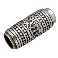 Edelstahl Magnetverschluss, Schwärzen, 29x13x13mm, Innendurchmesser:ca. 8, 9mm, 10PCs/Menge, verkauft von Menge