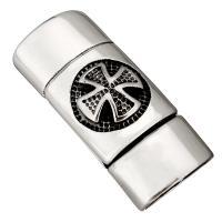Edelstahl Magnetverschluss, Schwärzen, 33x14x10mm, Innendurchmesser:ca. 12x7mm, 10PCs/Menge, verkauft von Menge