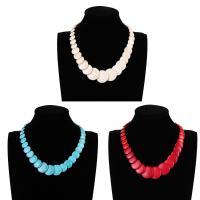 Mode-Halskette, Synthetische Türkis, mit Verlängerungskettchen von 5cm, flache Runde, für Frau, keine, 30mm, verkauft per ca. 11.5 ZollInch Strang