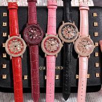 Damen Armbanduhr, mit Glas & Edelstahl & Zinklegierung, plattiert, für Frau & mit Strass, keine, 40x14mm, Länge:ca. 8 ZollInch, verkauft von PC