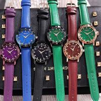 Damen Armbanduhr, mit Glas & Edelstahl & Zinklegierung, plattiert, für Frau & mit Strass, keine, 38x11mm, Länge:ca. 8 ZollInch, verkauft von PC