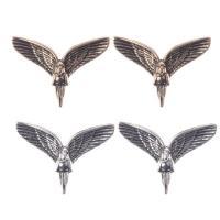 Zinklegierung Ohrstecker, Flügelform, plattiert, für Frau, keine, frei von Nickel, Blei & Kadmium, 33x15mm, verkauft von Paar