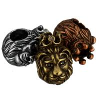 Zirkonia Micro Pave Messing Europa Bead, Löwe, plattiert, Micro pave Zirkonia & ohne troll, keine, 9.50x14x13mm, Bohrung:ca. 5mm, 20PCs/Menge, verkauft von Menge