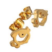 Edelstahl Ohrringe, Fisch, goldfarben plattiert, für Frau, 10x7.50mm, 12PaarePärchen/Menge, verkauft von Menge