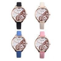 Damen Armbanduhr, mit Glas & Edelstahl & Zinklegierung, Rósegold-Farbe plattiert, für Frau, keine, 36x8mm, Länge:ca. 8 ZollInch, verkauft von PC
