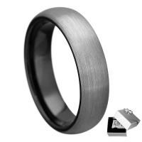 Unisex-Finger-Ring, Wolfram Stahl, plattiert, verschiedene Größen vorhanden, 4mm, verkauft von PC