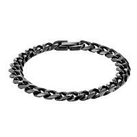 Herren-Armband & Bangle, Edelstahl, schwärzen, verschiedene Größen vorhanden & Kandare Kette & für den Menschen, verkauft von Strang