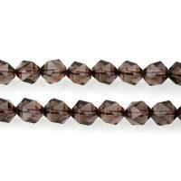 Natürliche Rauchquarz Perlen, verschiedene Größen vorhanden & facettierte, Bohrung:ca. 1mm, verkauft per ca. 15 ZollInch Strang