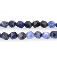 Sodalith Perlen, Sosalith, natürliche & verschiedene Größen vorhanden & facettierte, Bohrung:ca. 1.5mm, verkauft per ca. 15 ZollInch Strang