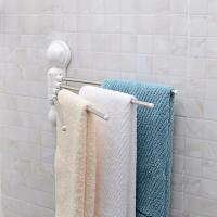 PVC Kunststoff Sucker Handtuchhalter, mit ABS Kunststoff & Edelstahl, Klebstoff, originale Farbe, 390x223mm, 2PCs/Menge, verkauft von Menge
