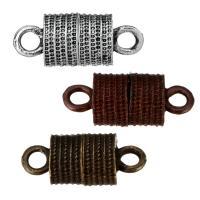 Zinklegierung Magnetverschluss, plattiert, 1/1-Schleife, keine, frei von Nickel, Blei & Kadmium, 19x8x8mm, Bohrung:ca. 2.5mm, 100PCs/Menge, verkauft von Menge