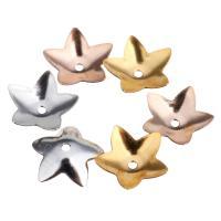 Edelstahl Perle Kappe, Blume, plattiert, keine, 8x7.50x1mm, 200PCs/Menge, verkauft von Menge