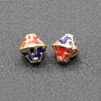 Imitation Cloisonne Zink Legierung Perlen, Zinklegierung, goldfarben plattiert, Emaille, keine, frei von Blei & Kadmium, 11x10mm, Bohrung:ca. 1.5mm, 10PCs/Tasche, verkauft von Tasche