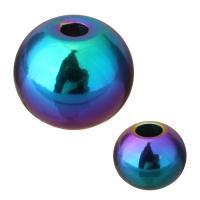 Edelstahl-Beads, Edelstahl, Trommel, bunte Farbe plattiert, verschiedene Größen vorhanden, 100PCs/Menge, verkauft von Menge