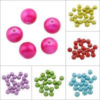 Acryl Schmuck Perlen, rund, Spritzlackierung, keine, 12mm, Bohrung:ca. 2mm, ca. 500PCs/Tasche, verkauft von Tasche