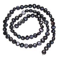 Barock kultivierten Süßwassersee Perlen, Natürliche kultivierte Süßwasserperlen, violett, 5-6mm, Bohrung:ca. 0.8mm, verkauft per 14.5 ZollInch Strang
