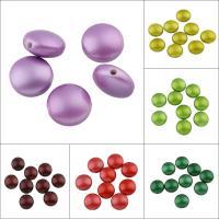 Volltonfarbe Acryl Perlen, flache Runde, Spritzlackierung, keine, 17x10mm, Bohrung:ca. 2mm, ca. 275PCs/Tasche, verkauft von Tasche