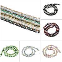 Natürliche Tibetan Achat Dzi Perlen, rund, facettierte, keine, 8mm, Bohrung:ca. 1mm, ca. 47PCs/Strang, verkauft per ca. 14.9 ZollInch Strang