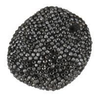 Strass Ton befestigte Perlen, 33x37x18mm, Bohrung:ca. 2mm, 10PCs/Menge, verkauft von Menge