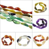 Natürliche Drachen Venen Achat Perlen, Drachenvenen Achat, keine, 13x40x9mm-20x45x15mm, Bohrung:ca. 2mm, 10PCs/Strang, verkauft per ca. 14.9 ZollInch Strang
