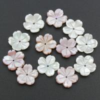 Muschel Perle, Blume, verschiedenen Materialien für die Wahl, 15x15x2.5mm, Bohrung:ca. 0.5mm, 30PCs/Tasche, verkauft von Tasche