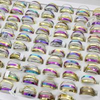 Zinklegierung Fingerring , plattiert, Mischringgröße & für Frau, gemischte Farben, frei von Blei & Kadmium, 20x6mm-18x5mm, Größe:6-9, 100PCs/Box, verkauft von Box