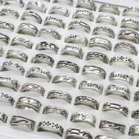 Zinklegierung Fingerring , antik silberfarben plattiert, unisex & gemischt, frei von Blei & Kadmium, 22x6mm-20x5mm, Größe:6-9, 100PCs/Box, verkauft von Box