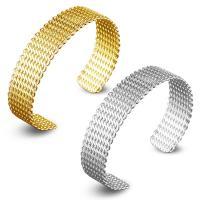 Messing-Armbänder, Messing, plattiert, offen & für Frau, keine, frei von Nickel, Blei & Kadmium, 15mm, Innendurchmesser:ca. 60mm, Länge:ca. 7 ZollInch, verkauft von PC