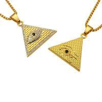 Zinklegierung Pullover Halskette, plattiert, unisex & Kastenkette & verschiedene Stile für Wahl & mit Strass, verkauft von Strang