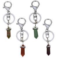 Schlüsselanhänger, Messing, Pendel, Platinfarbe platiniert, verschiedenen Materialien für die Wahl, 106mm, 25x35mm, 30mm, 13x36mm, verkauft von PC