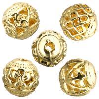 Edelstahl-Beads, Edelstahl, goldfarben plattiert, verschiedene Stile für Wahl & hohl, 8.50x8x8mm, Bohrung:ca. 1.7mm, 100PCs/Menge, verkauft von Menge