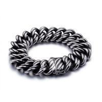 Edelstahl Schmuck Armband, Titanstahl, Twist oval & für den Menschen & Schwärzen, 22mm, verkauft per ca. 9 ZollInch Strang