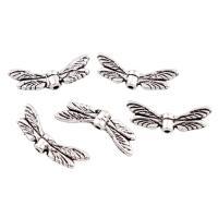 Zink Legierung Perlen Schmuck, Zinklegierung, Flügelform, antik silberfarben plattiert, frei von Blei & Kadmium, 20x7x3mm, 100G/Tasche, verkauft von Tasche
