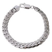 Edelstahl Armband, Kandare Kette & für Frau, originale Farbe, 8mm, Länge:ca. 7.5 ZollInch, 10SträngeStrang/Menge, verkauft von Menge