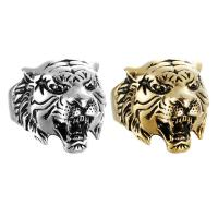 Titanstahl Fingerring, Tiger, poliert, verschiedene Größen vorhanden & für den Menschen & Schwärzen, keine, 20mm, verkauft von PC